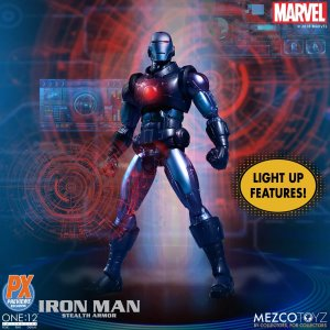 Mezco One 12 Collective Stealth Armor Iron Man PX Exclusive
