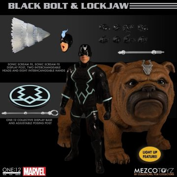 Mezco One:12 Collective Black Bolt & Lockjaw Set