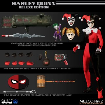 Mezco One:12 Collective Harley Quinn Deluxe Edition