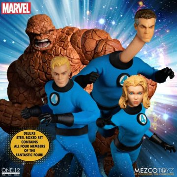 Mezco One:12 Collective Fantastic Four Deluxe Steel Boxed Set