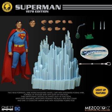 Mezco One:12 Collective Christopher Reeve Superman 1978 Edition  Mezco Exclusive