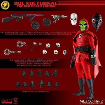 Mezco One:12 Collective Doc Nocturnal Red Death Edition