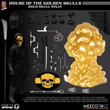 Mezco One:12 Collective House of The Golden Skulls Gold Skull Ninja  Mezco Exclusive