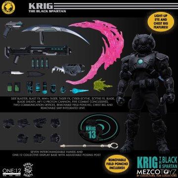 Mezco One:12 Collective Krig-13 Black Spartan Edition